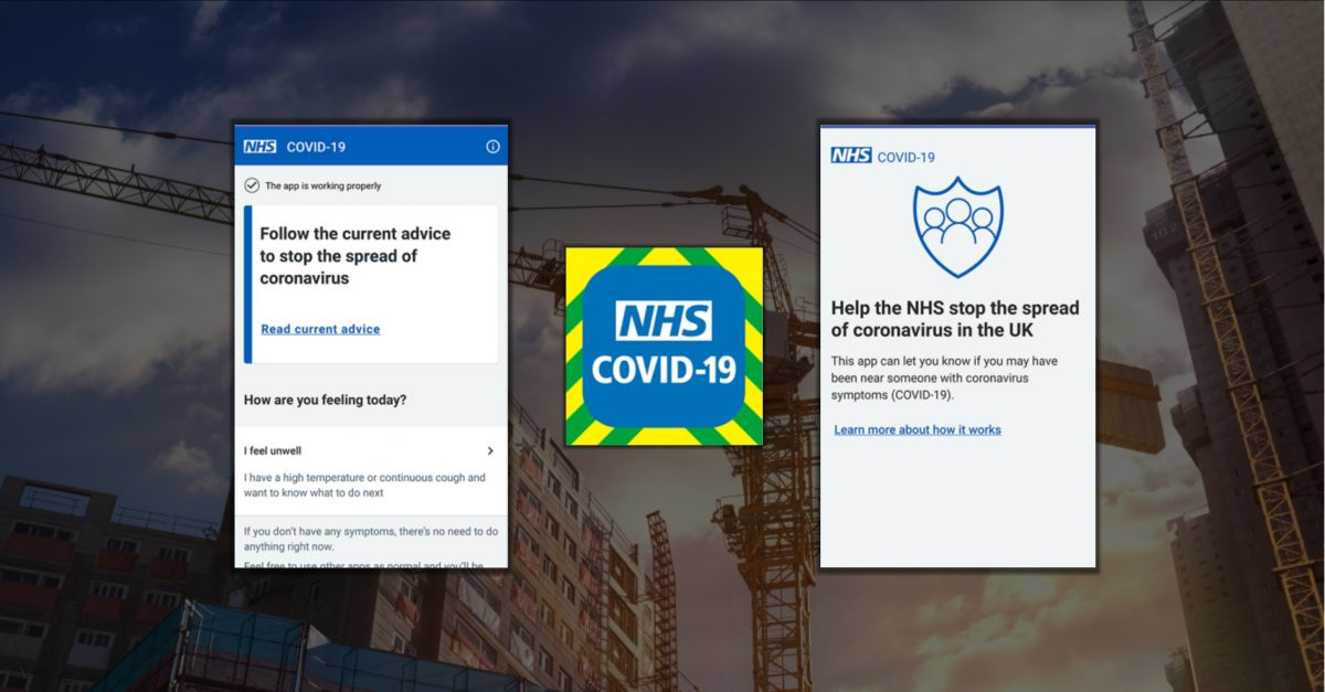 NHS Covid-19 Tracking App for Construction