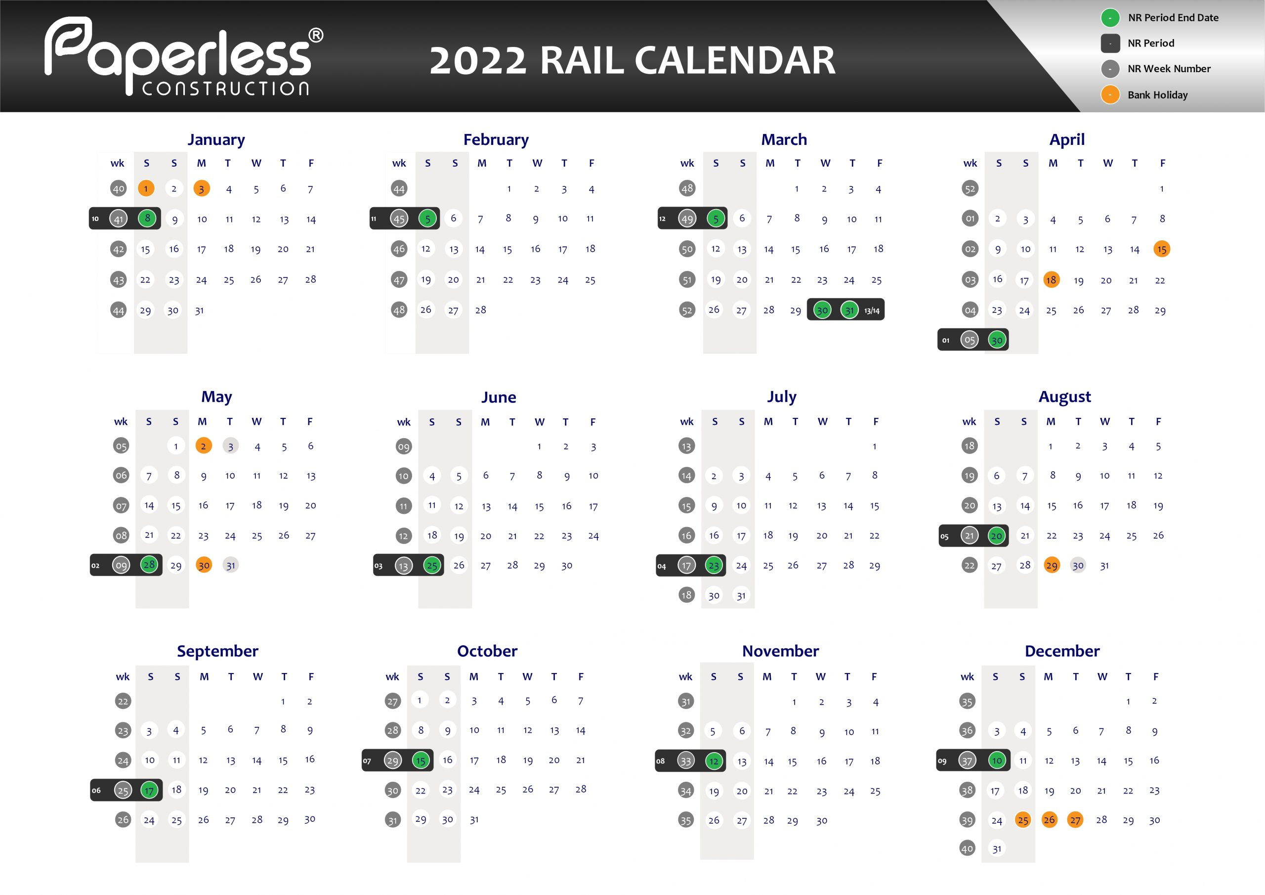 Network Rail Calendar Download PDFs